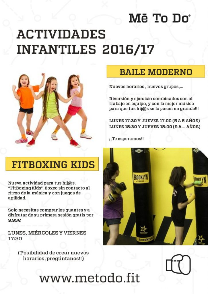 baile moderno + fitboxing kids